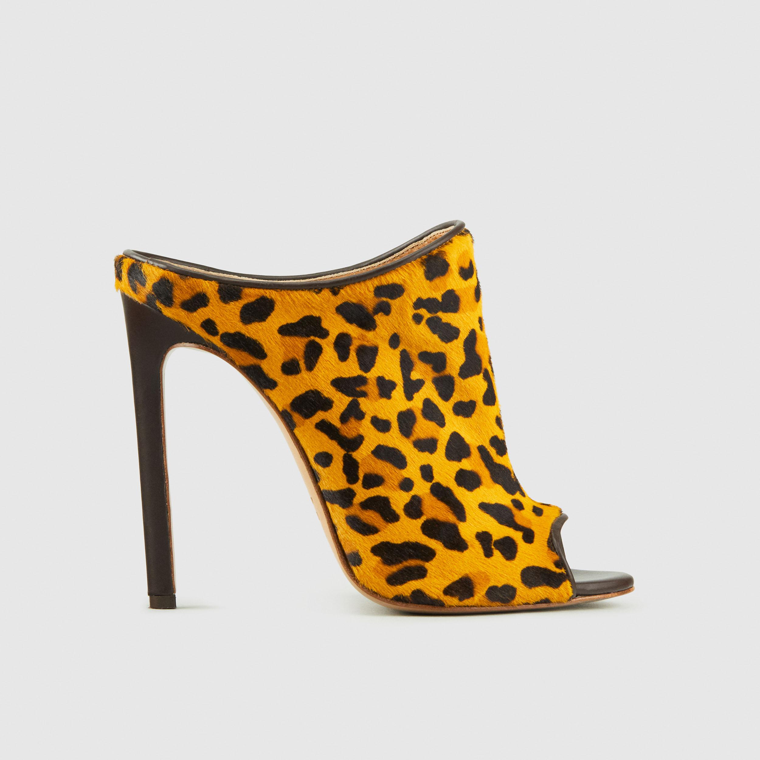 Duzie Faux Leopard Hair Sandal