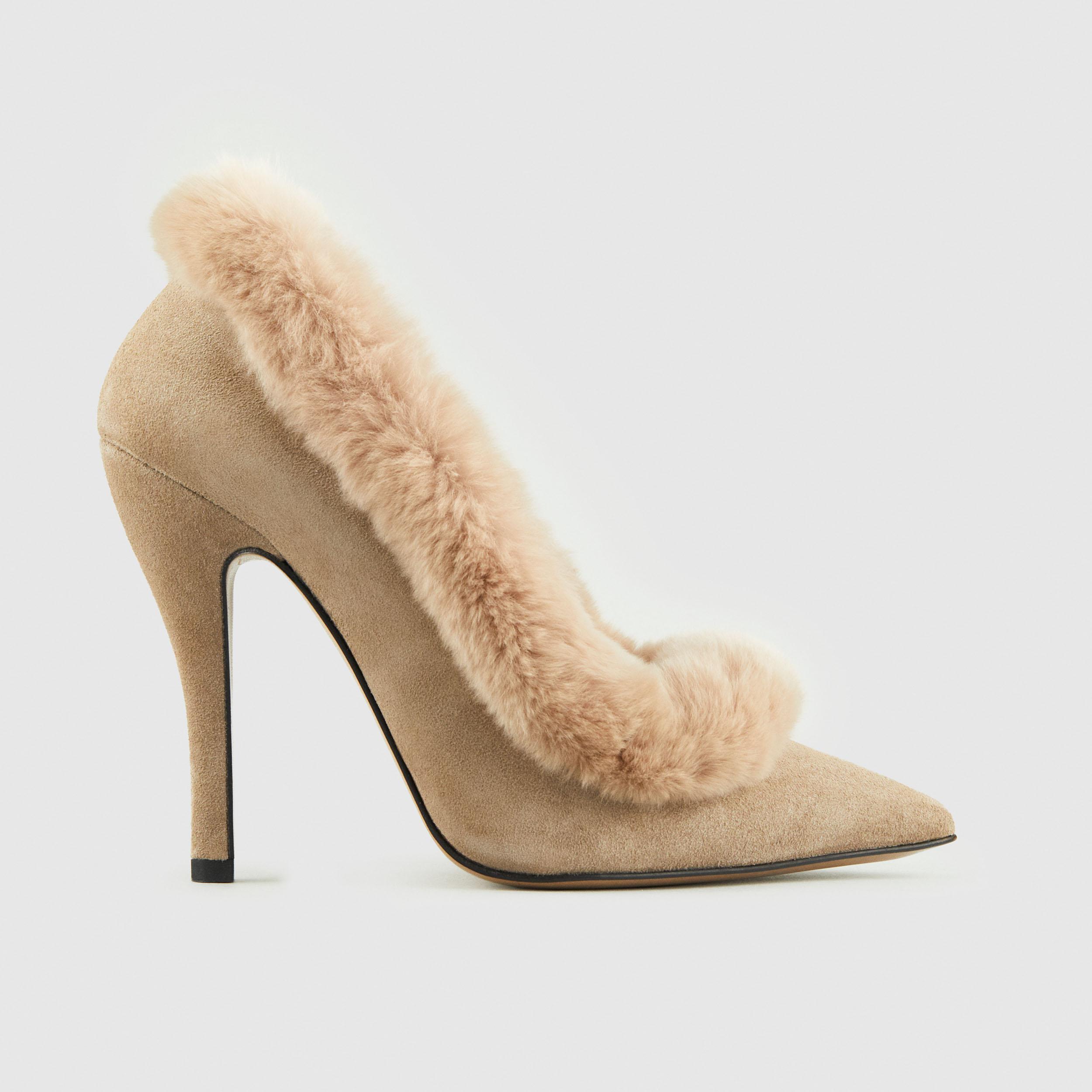 Duzie Divine Suede Base With Fur Trim